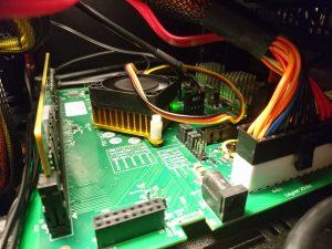 MacchiatoBIN installed in a mini-ITX case